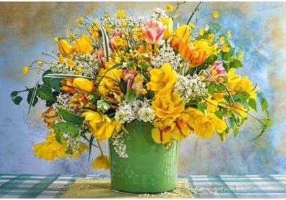Spring_Flowers_in_Green_Vase