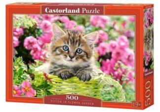 Kitten_in_Flower_Garden